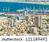 City of Haifa from above, Israel - stock photo