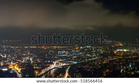 City of Innsbruck, Austria, night