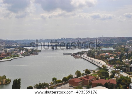 City of Istanbul. A view of the Golden Horn