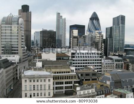 City of London, England, United Kingdom - stock photo