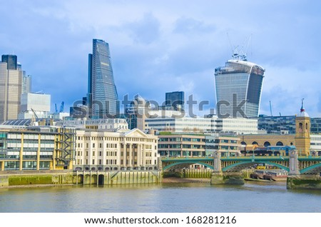 City of London one at bright day - stock photo
