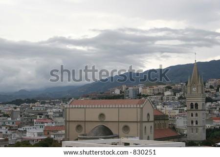 City of Messina, Italy. - stock photo