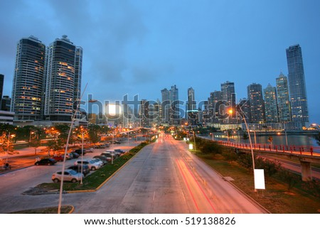 City of Panama in the sunset