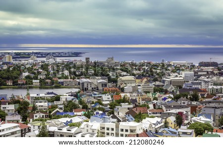 City of Reykjavik panorama, Iceland