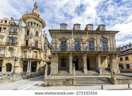 City of Ribadeo in Lugo, Spain - stock photo