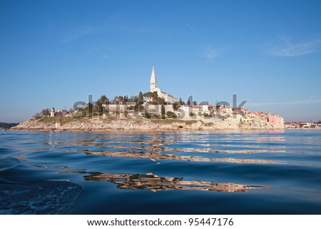 city of Rovinj, Istra, Croatia - stock photo