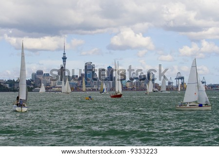 City of Sales - Auckland New Zealand - stock photo