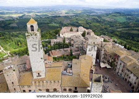 City of San Giminagno, Tuscany - stock photo