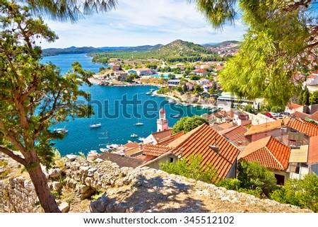 City of Sibenik coast view, Dalmatia, Croatia - stock photo