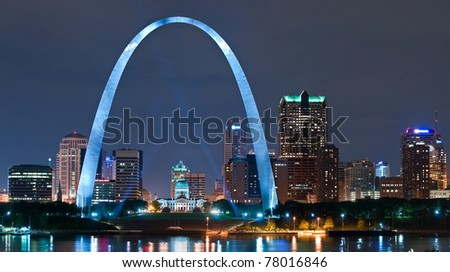 City of St. Louis - stock photo