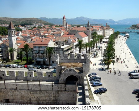 City of Trogir, Croatia - stock photo