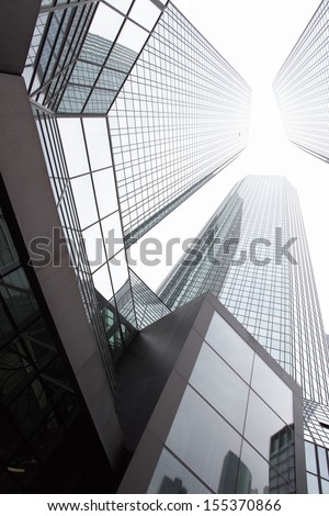 City - Office buildings close-up - stock photo