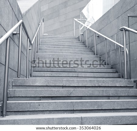 City outdoor stairs  - stock photo