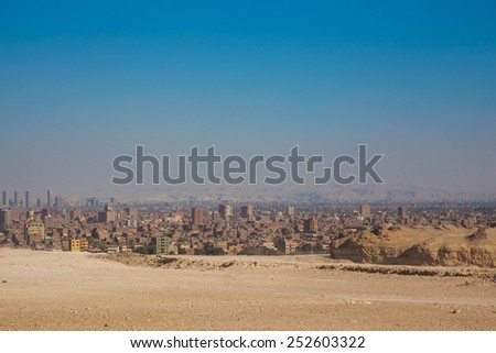 City overview of Giza, Egypt - stock photo