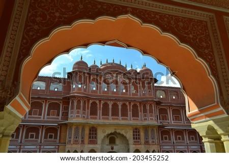City Palace in Jaipur, Rajasthan, India - stock photo