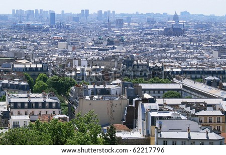 city, Paris, montmartre - stock photo