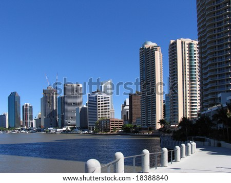 City river walkway - stock photo