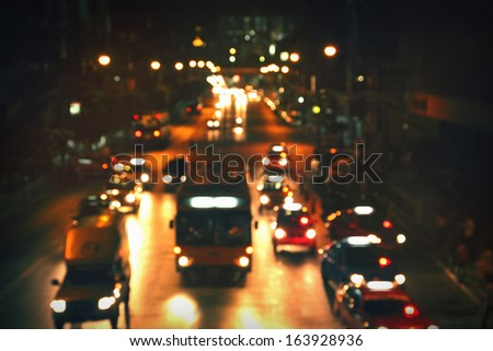 City road at night - stock photo