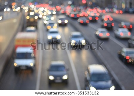 city road vehicles - stock photo