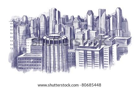 city scape - stock photo