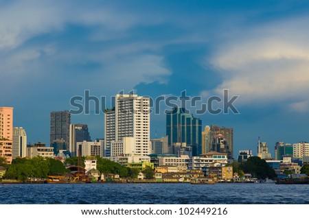 city scape of Bangkok, Thailand - stock photo