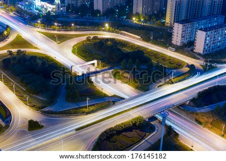 City Scape of nanchang city at china. - stock photo