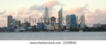 city scape panorama - stock photo