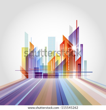 City scape. Raster version - stock photo