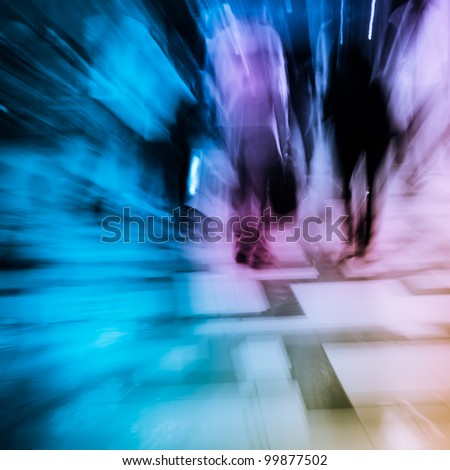 city shopping people crowd at marketplace background - stock photo