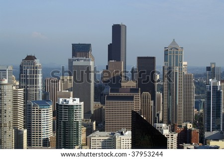 City Sky line - stock photo