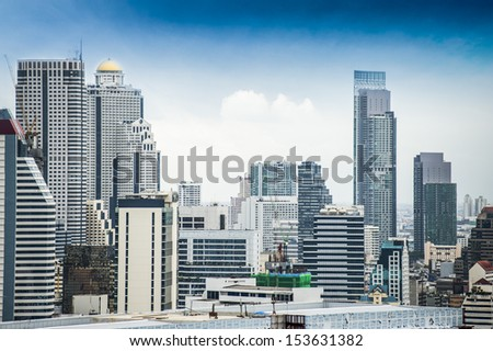 City sky scape in Bangkok
