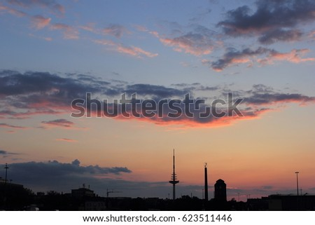 City Skyline on Sunset
