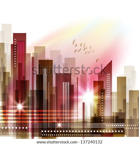 City Skyline. Raster version - stock photo