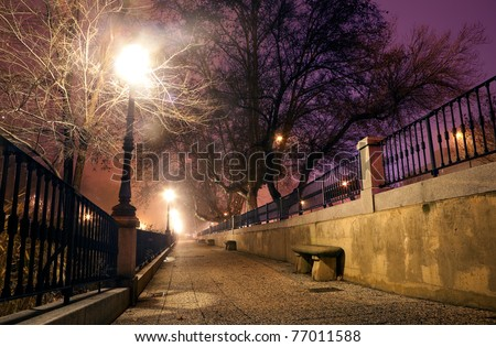 city â??â??street at night - stock photo