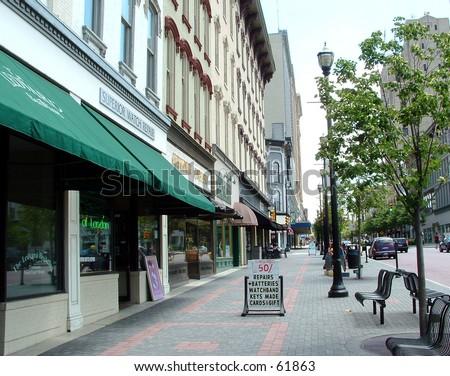 city street color - stock photo