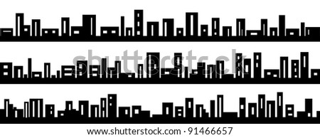 city symbol isolated on white