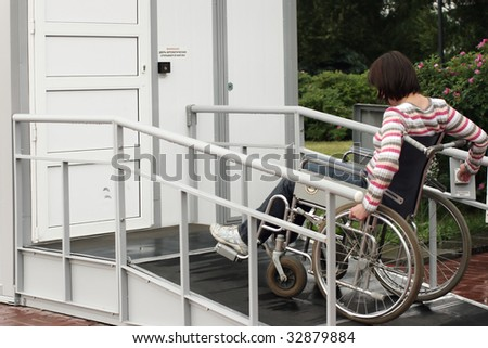 City toilet for the invalid - stock photo
