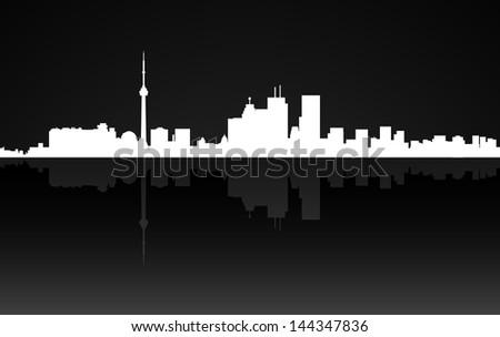 City Toronto panorama - stock photo