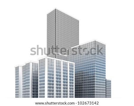 City towers, modern architecture