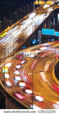 City traffic at night - stock photo