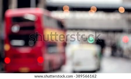 City Traffic Street Scene. Soft Focus. People Urban Lifestyle - stock photo