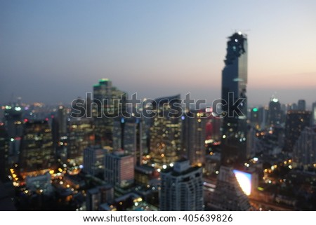 City view at night time.Background blurred