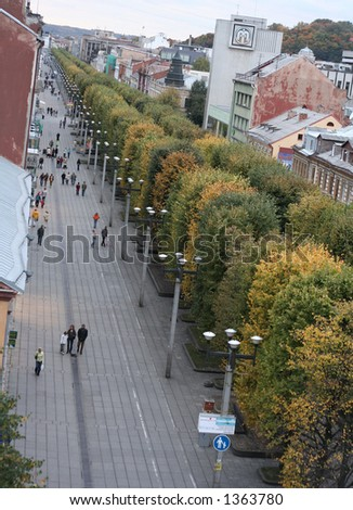 City view from above - Kaunas, Lithuania