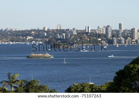City view from Sydney Harbor - stock photo
