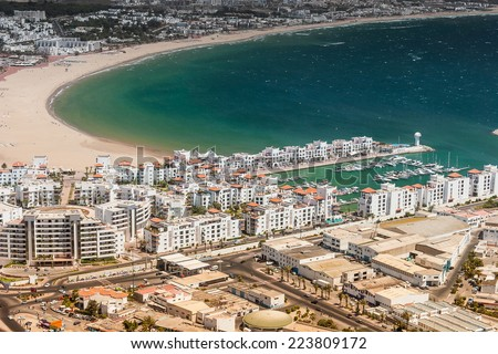 City view of Agadir at summer, Morocco - stock photo