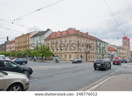 city view of Pilsen, a city in the Czech Republic - stock photo