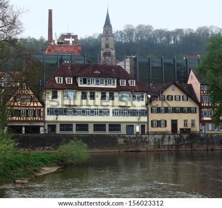 City view of Schwaebisch Hall in Southern Germany