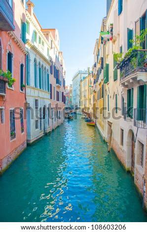 City views of venice in Italy - stock photo