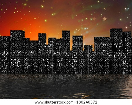 City Water - stock photo