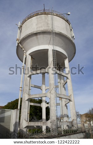 City water supply tank - stock photo